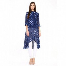 Avishi Long Kurta with Pearl Zip