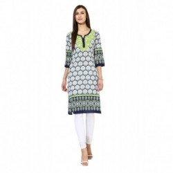 Avishi Hand Embroiderred Geometric Print long Kurta