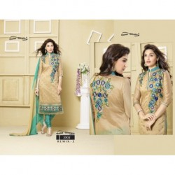 Chanderi Silk Semi-Stitched Dress Material DN 2302
