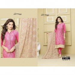 Chanderi Silk Semi-Stitched Dress Material DN 2303