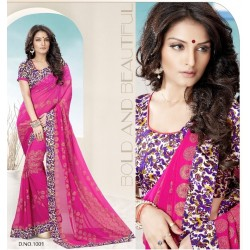 Printed Georgette Saree with Blouse DN 1001