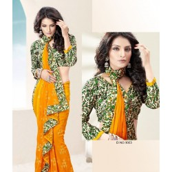 Printed Georgette Saree with Blouse DN 1003